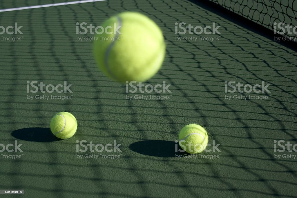 Tennis ball bounce series royalty-free stock photo