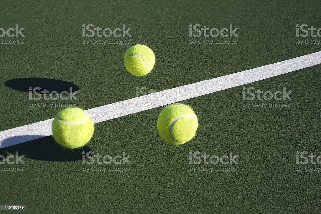 Tennis ball bounce series stock photo