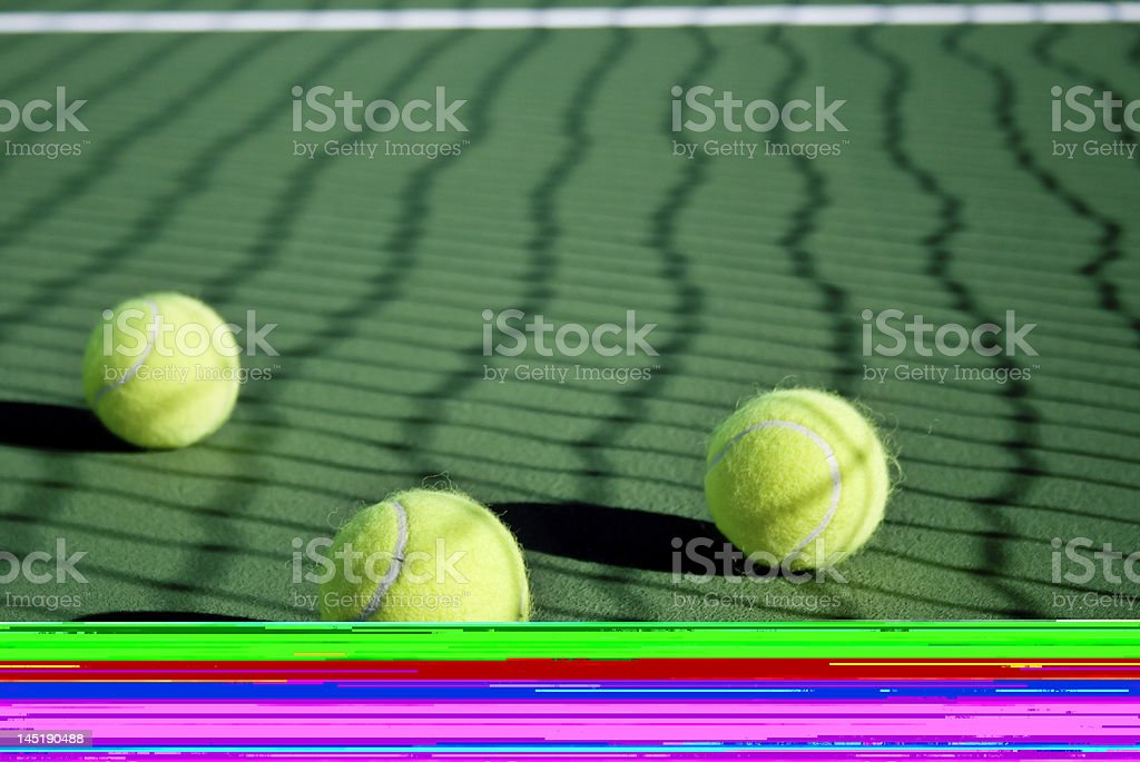 Tennis ball bounce series royalty-free stock photo