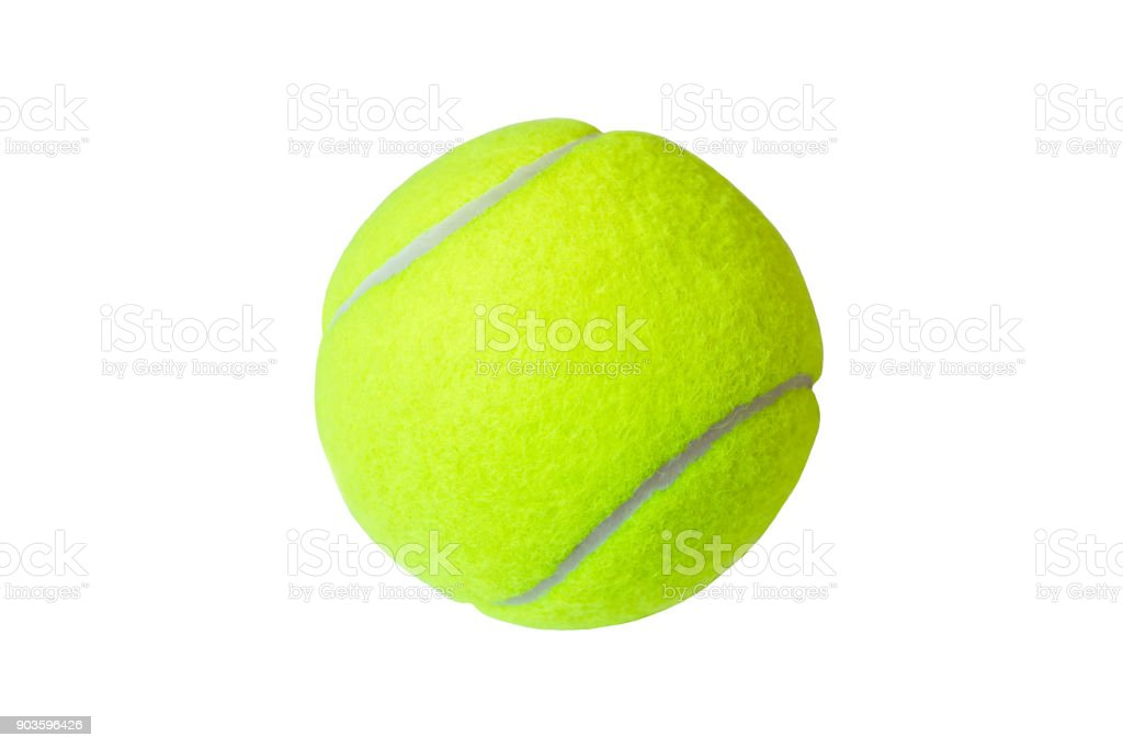 Pelota de tenis aislada sobre fondo blanco. Marco, de cerca. - foto de stock