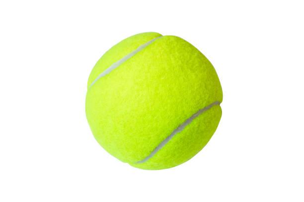 Balle de tennis isolé sur fond blanc. Marco, bouchent. - Photo