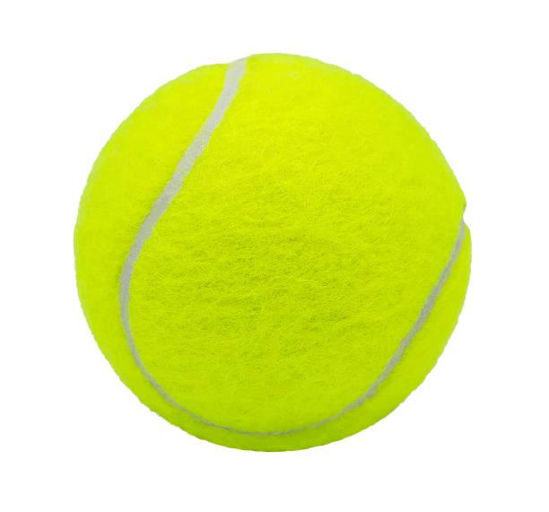 balle de tennis isolé sur fond blanc avec un tracé de détourage - Photo
