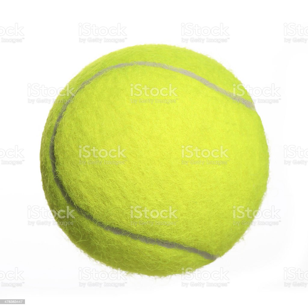 Tennis Ball isolated on white. Closeup stock photo