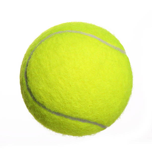 Balle de Tennis isolé sur fond blanc.  Gros plan - Photo