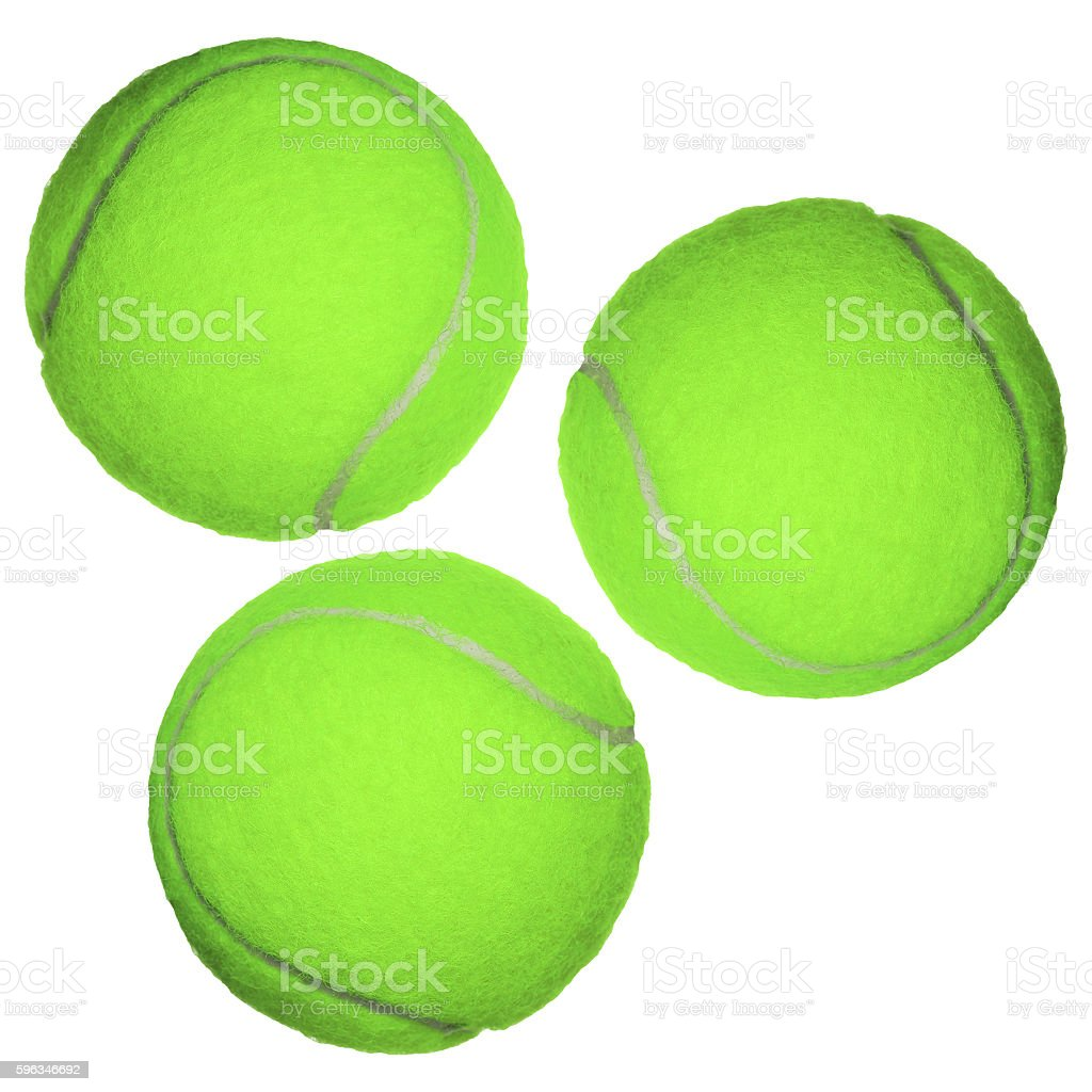 Tennis ball isolated on white royalty-free stock photo