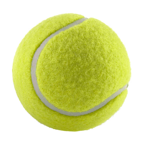 tennis ball isolated without shadow - photography - racket sport stock pictures, royalty-free photos & images