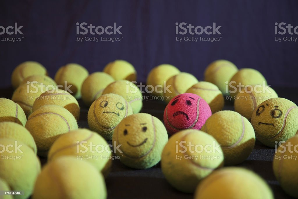 Tennis Ball Isolation and Dispair royalty-free stock photo