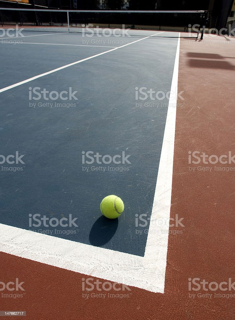 tennis ball on a court. royalty-free stock photo
