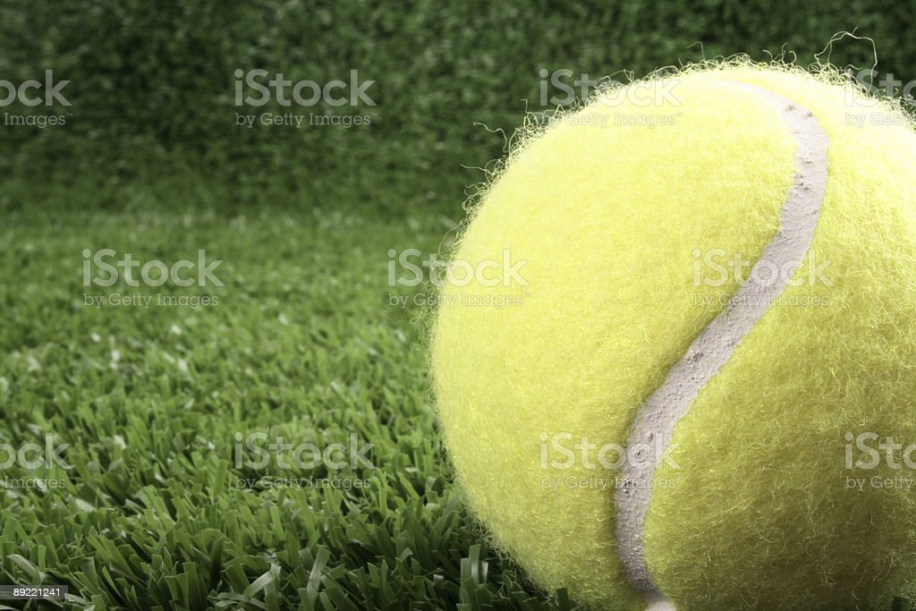 Tennis ball on right royalty-free stock photo