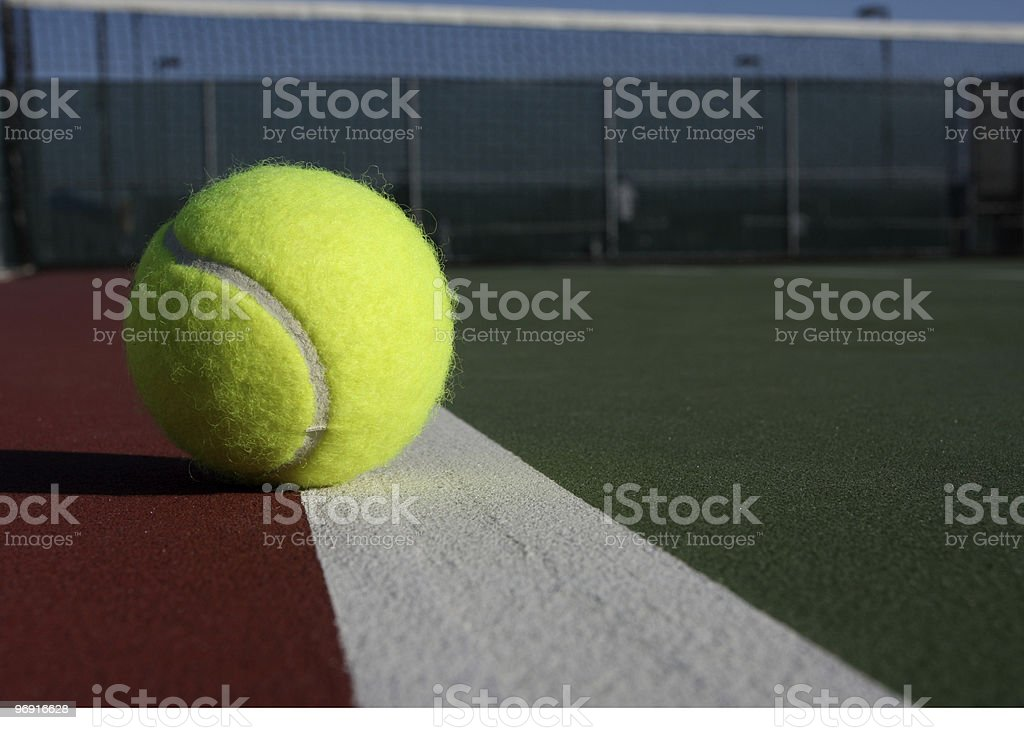Tennis Ball on the Court royalty-free stock photo