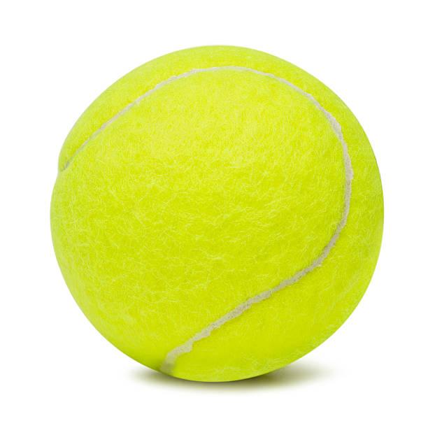 Balle de Tennis sur un arrière-plan blanc - Photo