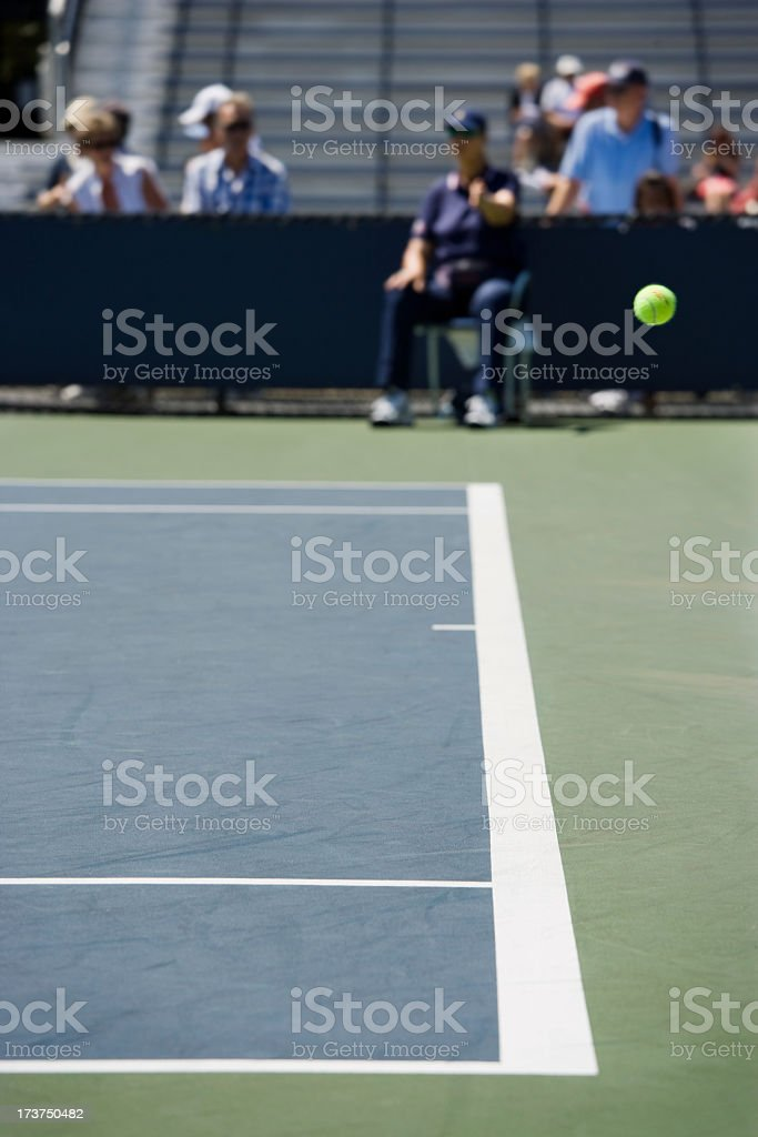 Tennis ball Out call royalty-free stock photo