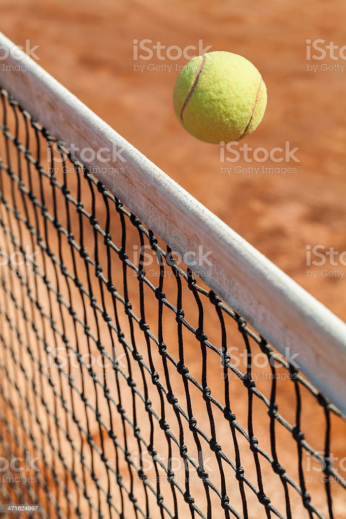 tennis ball over the net royalty-free stock photo