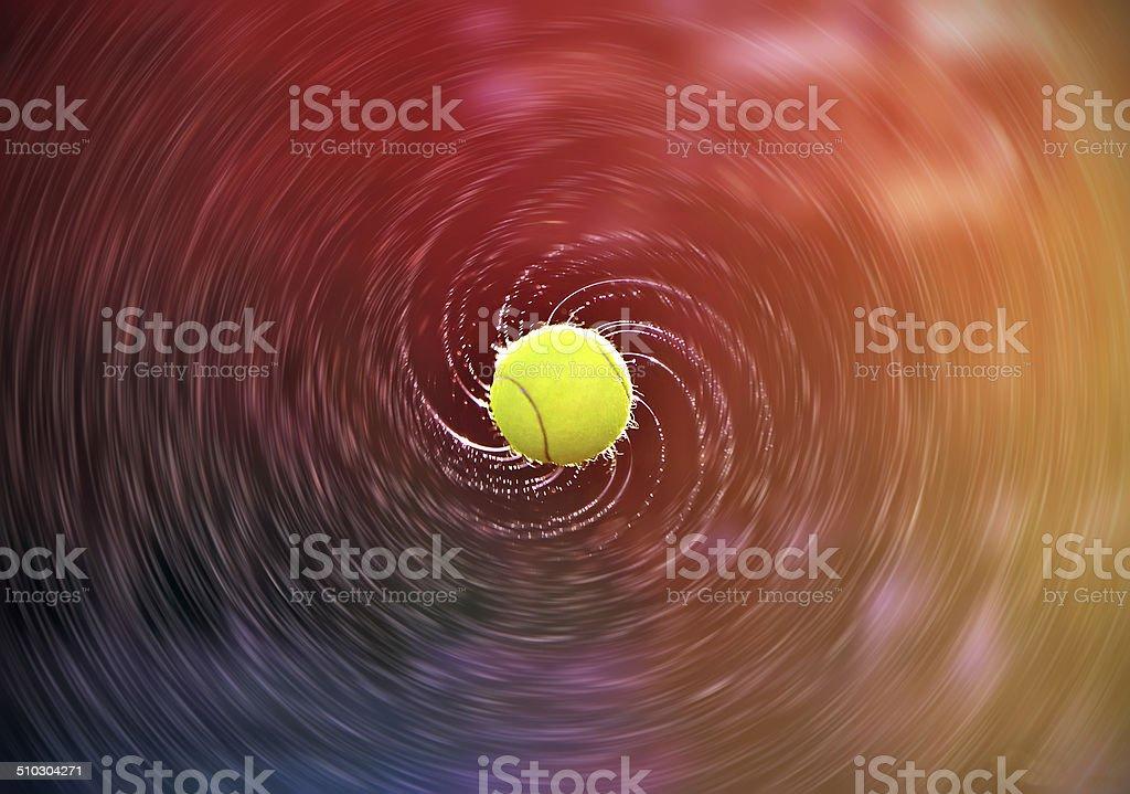 Tennis ball stock photo