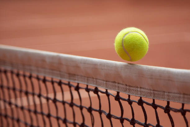 tennis ball tennis ball netting stock pictures, royalty-free photos & images