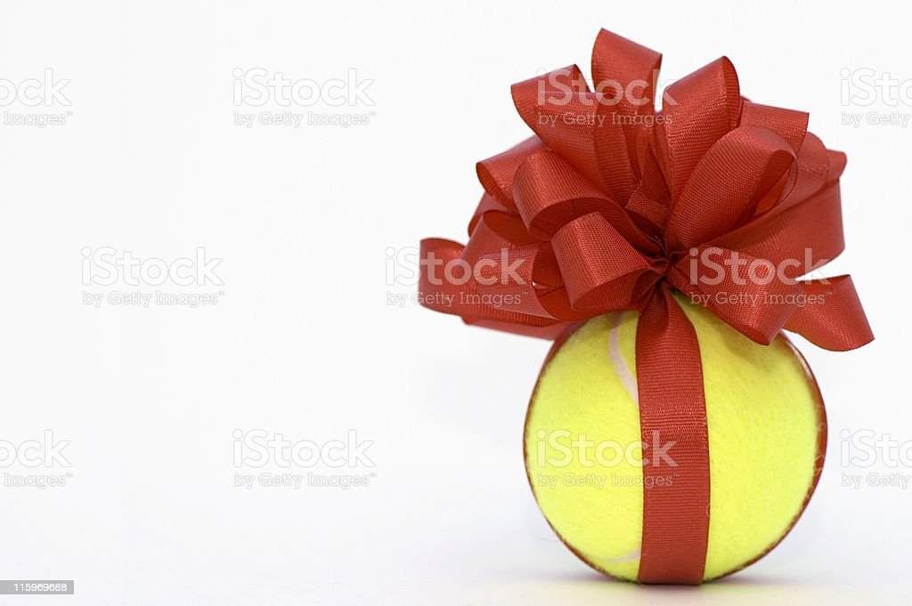 Tennis Ball Present royalty-free stock photo