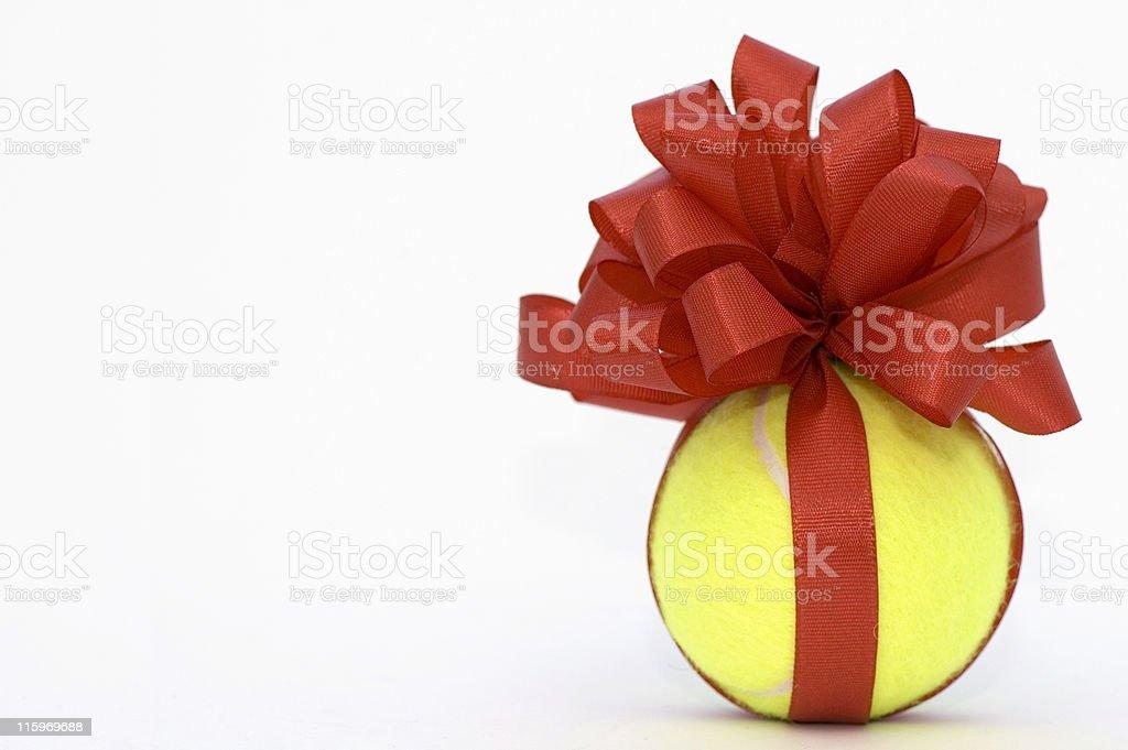 Tennis Ball Present stock photo