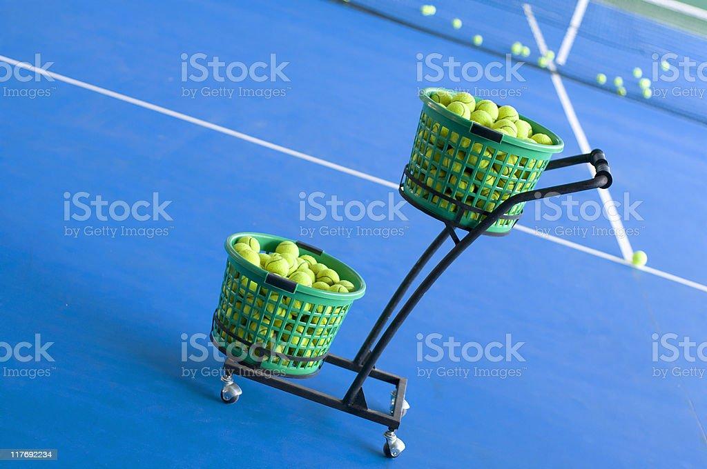 Tennis ball pushcart royalty-free stock photo