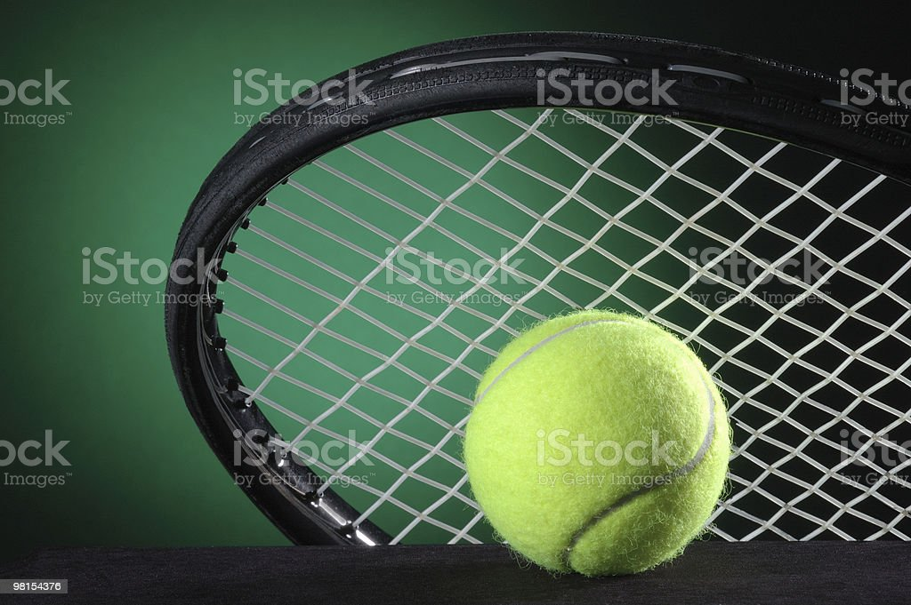 Tennis Ball & Racket royalty-free stock photo
