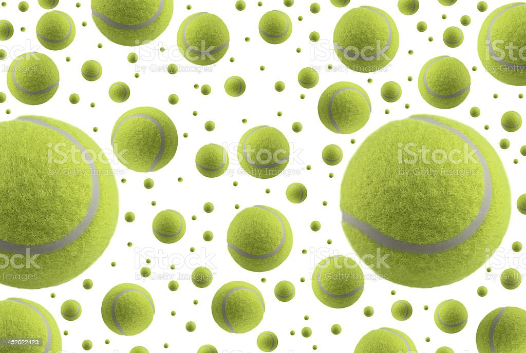 Tennis ball rain stock photo