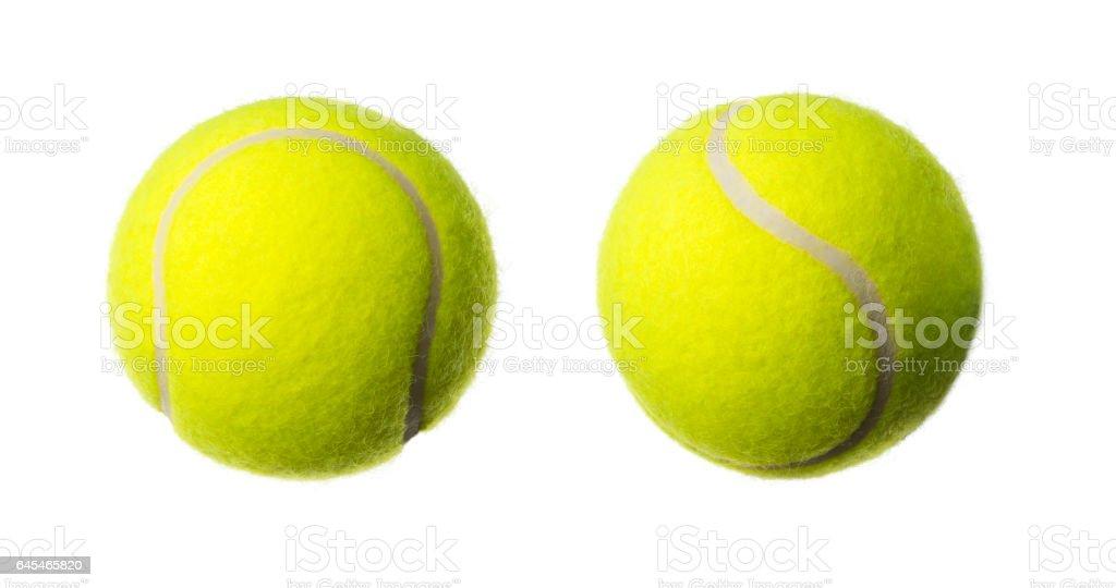 Tennis ball, studio shot stock photo