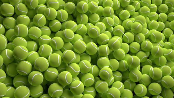 Tennis balls. 3d rendering stock photo