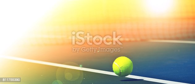 1153628111istockphoto Tennis balls are falling ground. 811755390