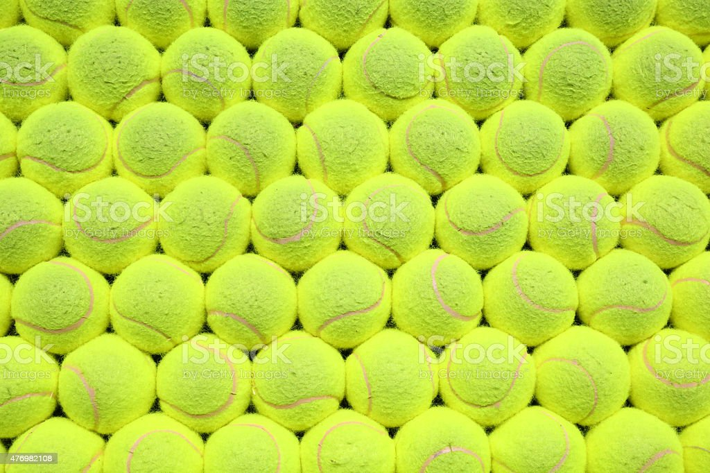 Tennis balls background stock photo