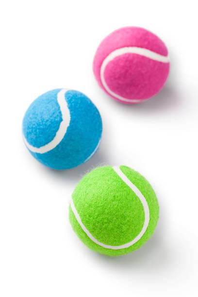 tennis balls - isolated - set tennis o pallavolo foto e immagini stock