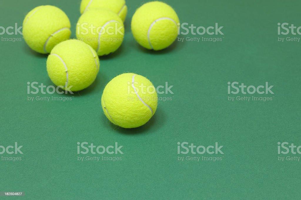 Tennis balls royalty-free stock photo