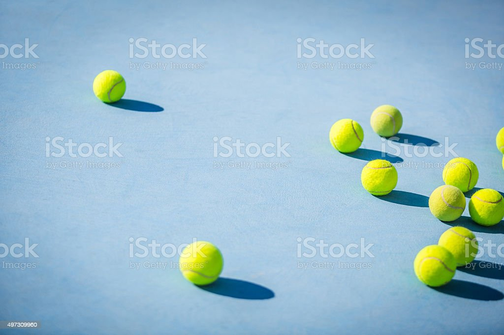 group of objects tennis balls