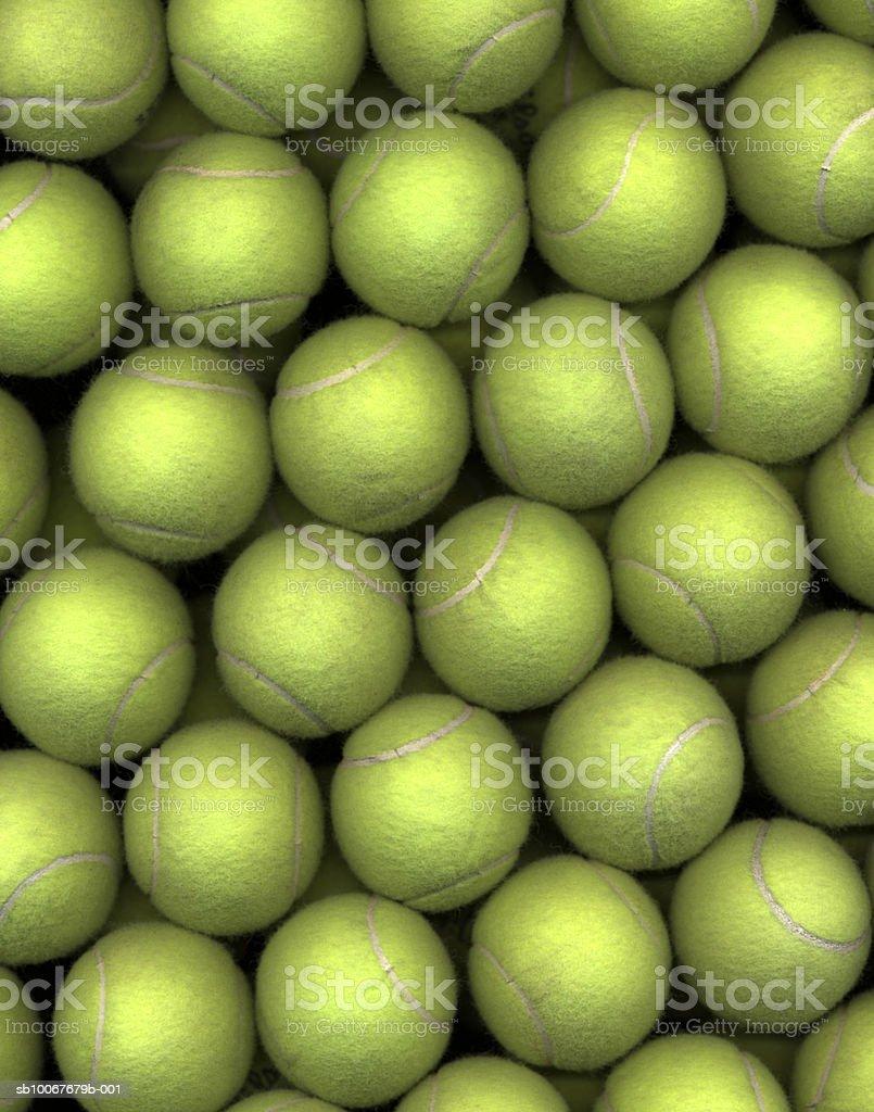Теннисные мячи (полный кадр) Стоковые фото Стоковая фотография