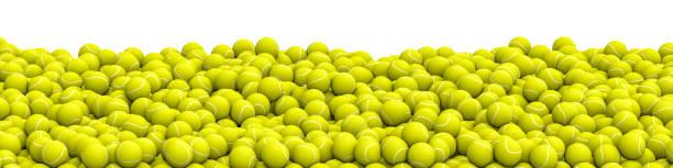 Panorama de pile de balles de tennis - Photo