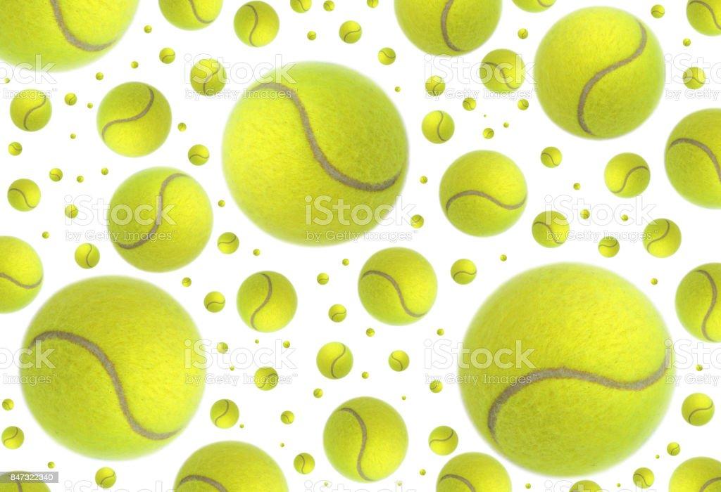 Pluie de balles de tennis - Photo