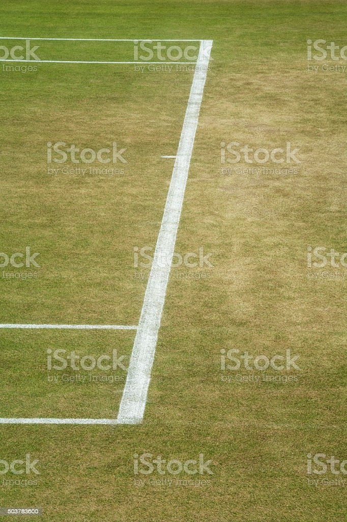 Tennis baseline stock photo