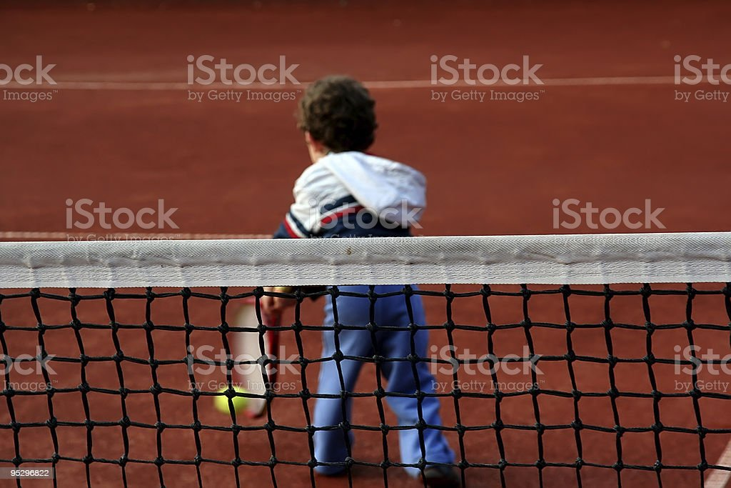 tennis boy royalty-free stock photo