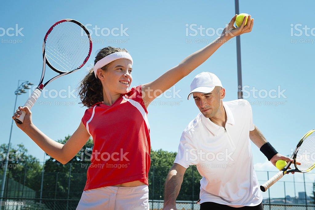 Tennis class royalty-free stock photo