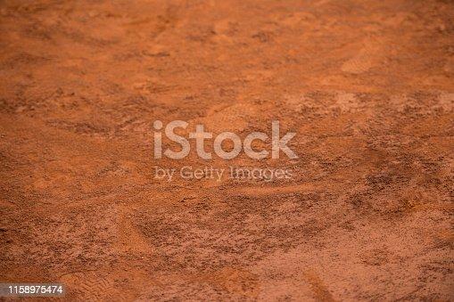 istock Tennis clay court background 1158975474