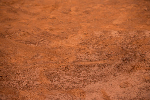 Tennis clay court background stock photo
