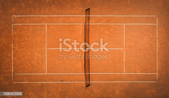 istock Tennis Clay Court. View from the bird's flight. Aerial photography 1020422020