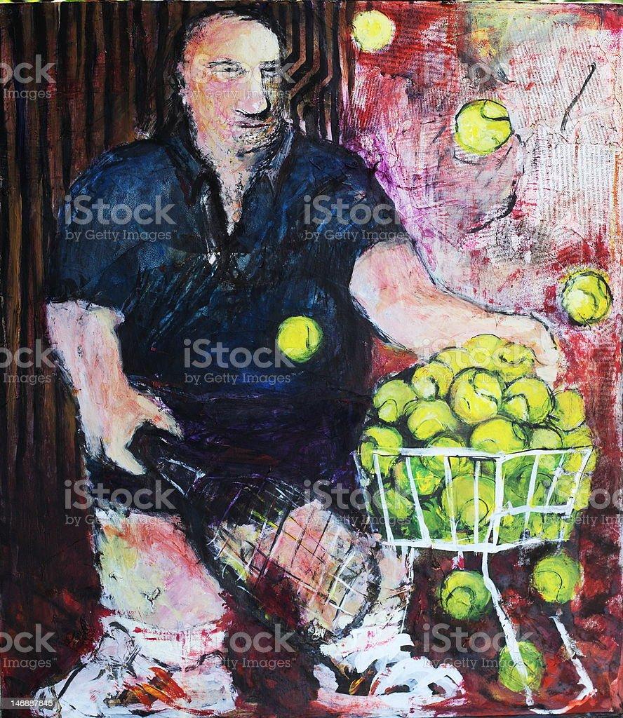 tennis coach stock photo