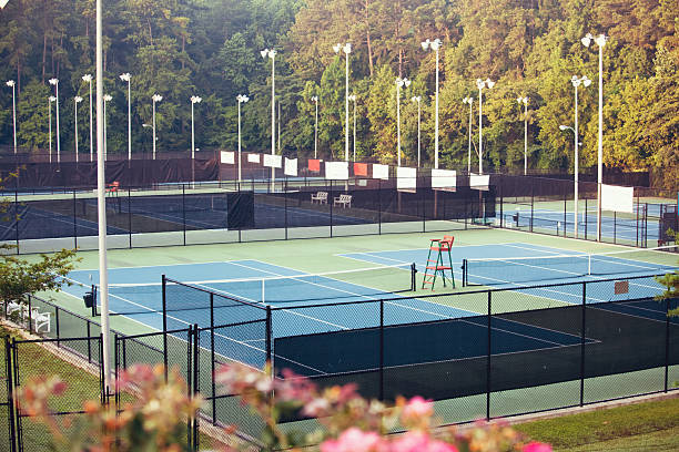 tennis complex stock photo