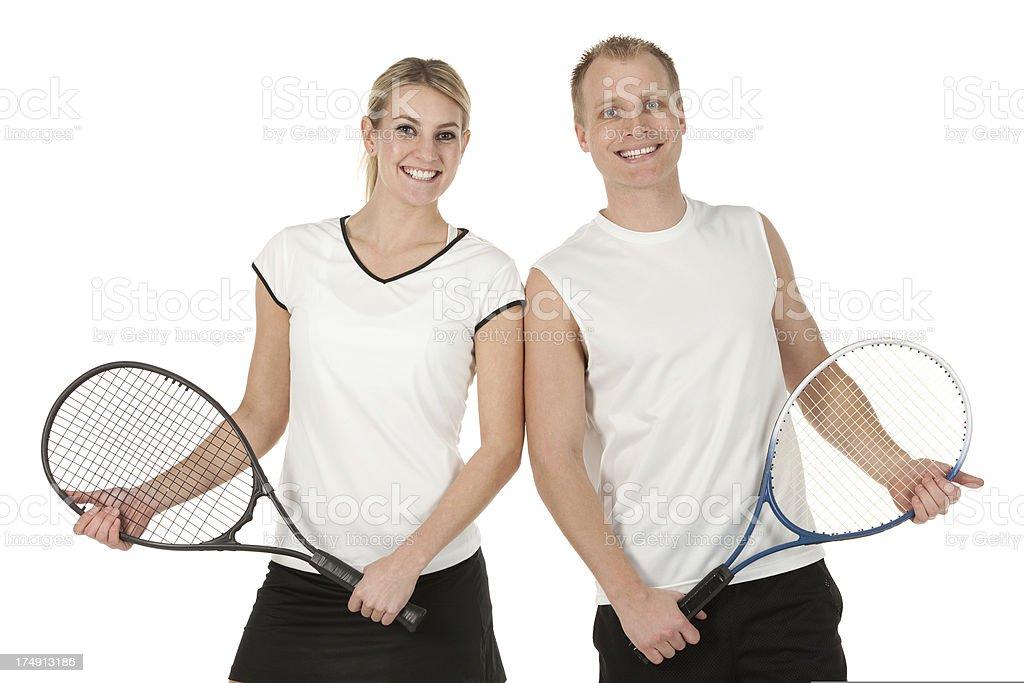 Tennis couple royalty-free stock photo