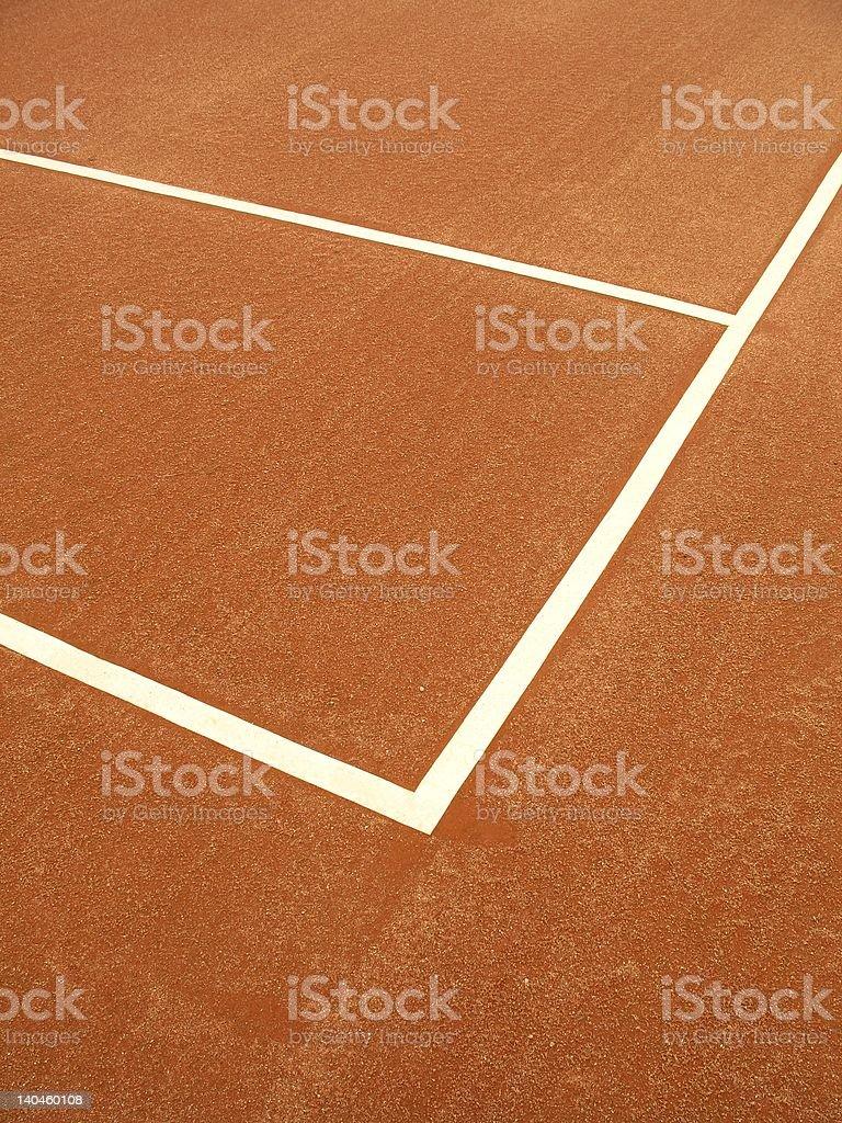 Tennis court - 1 royalty-free stock photo