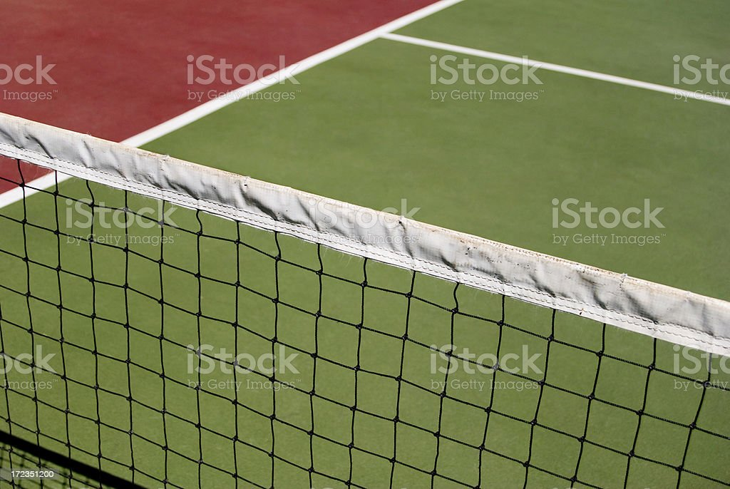 Tennis court and net royalty-free stock photo