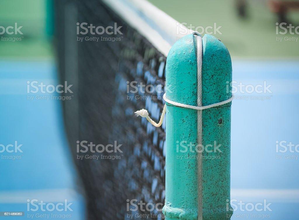 Tennis court and net, Retro color photo libre de droits
