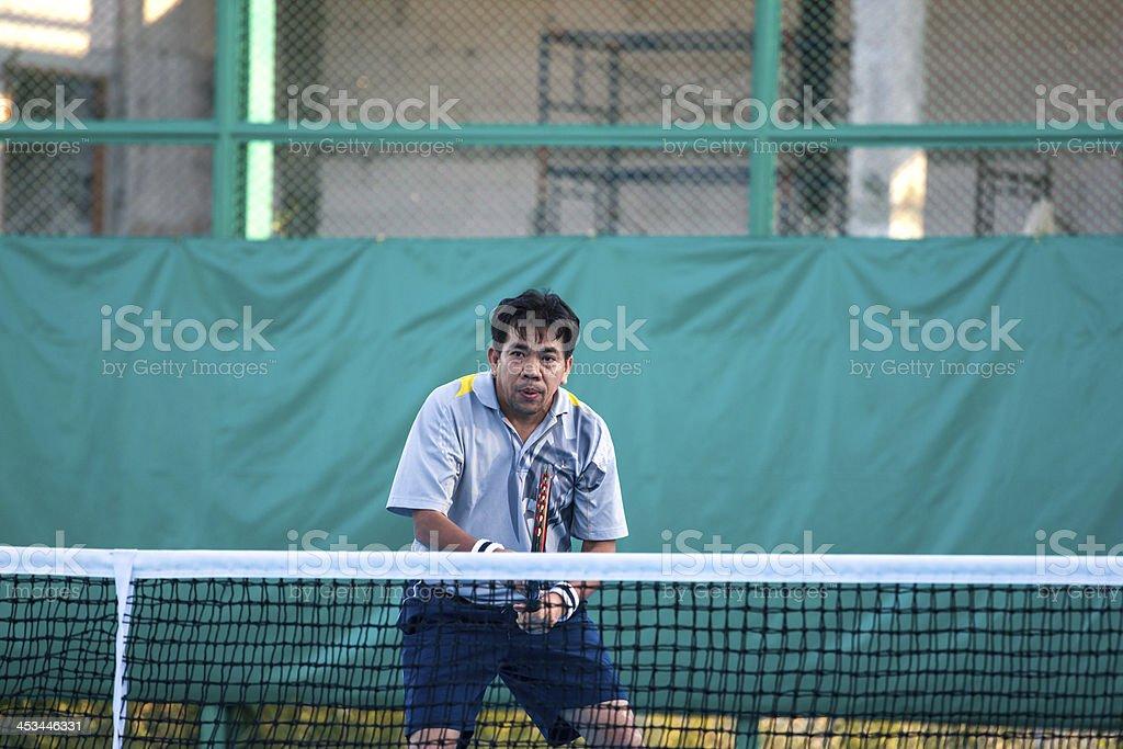 tennis court at chonburi thailand royalty-free stock photo
