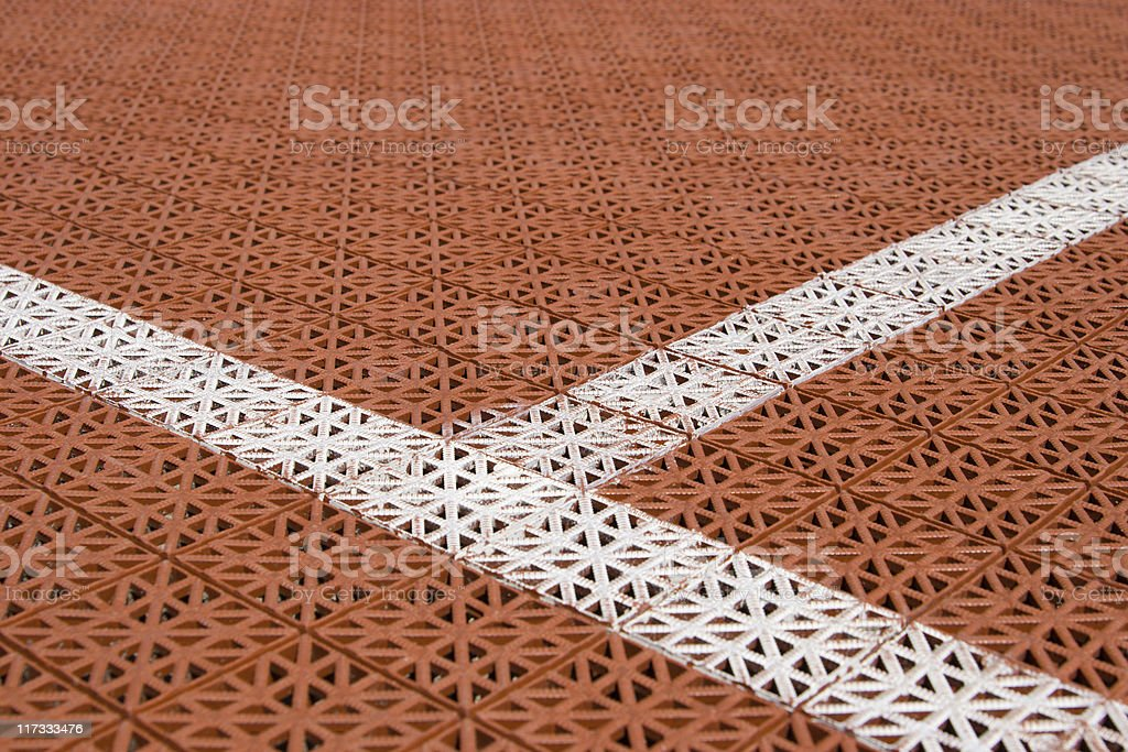 Tennis court cover stock photo