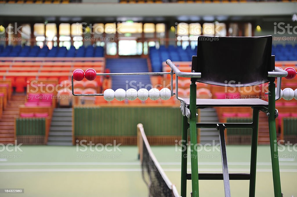 Tennis court judge chair royalty-free stock photo