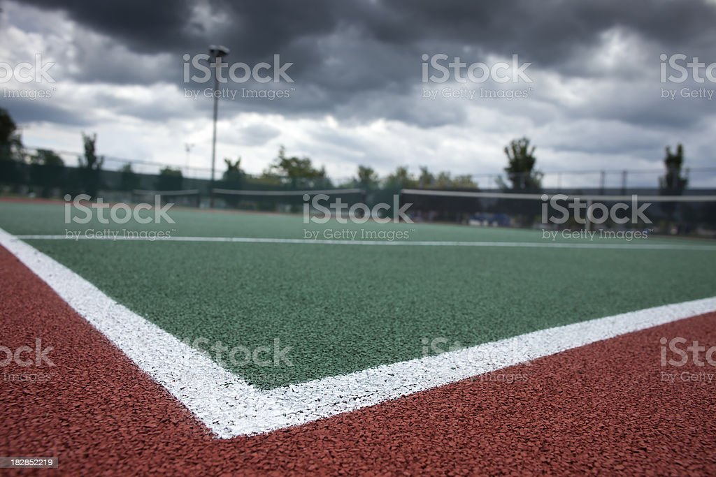Tennis court, low angle royalty-free stock photo